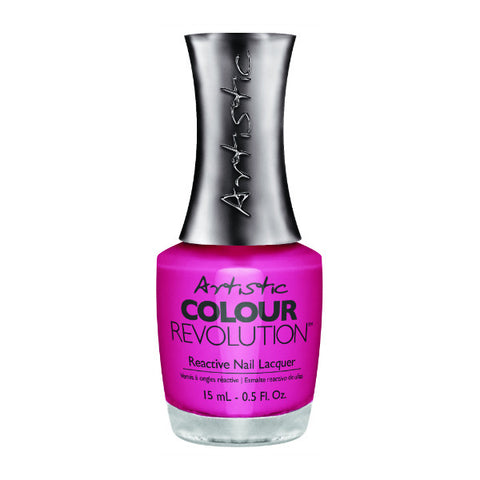 Artistic Colour Revolution Reactive Nail Lacquer - Flirty (Vibrant Hot Pink Creme) - 113