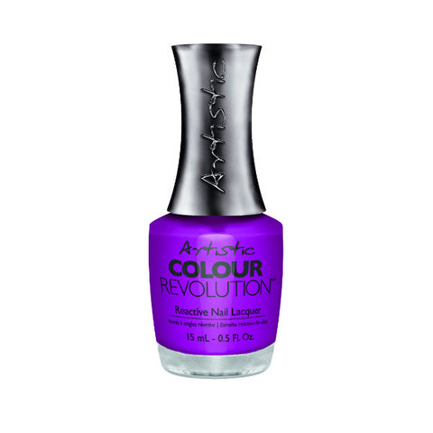 Artistic Colour Revolution Reactive Nail Lacquer - Hear Me Roar (Electric Purple Creme) - 170