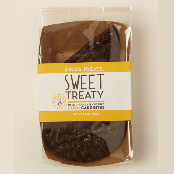 Sweet Treaty Dark Chocolate-Covered Corn Cakes