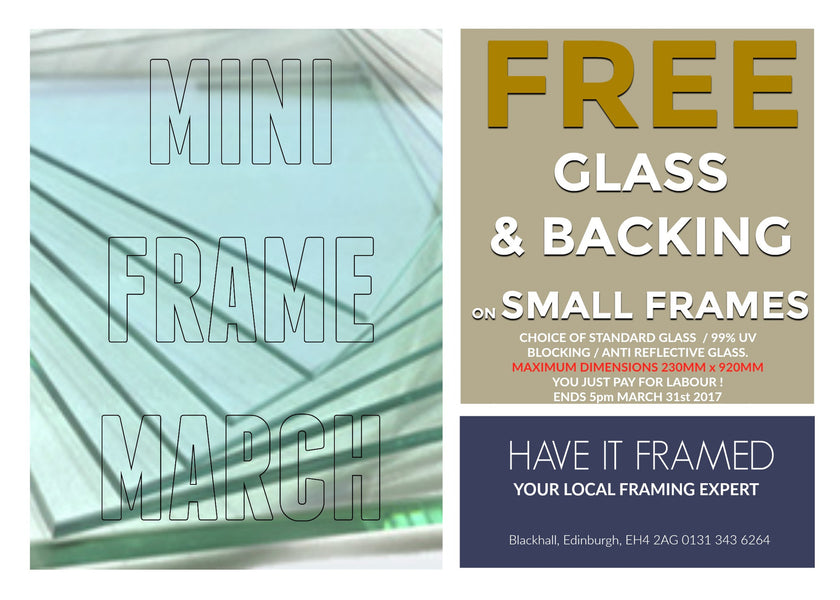 MINI FRAME MARCH  - FREE GLASS & BACKING !