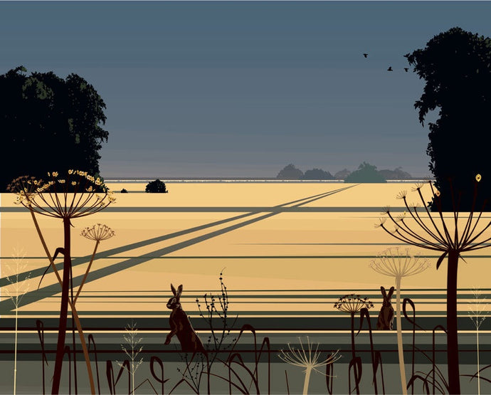 Evening Calm Print with Silk screens by DAN CRISP