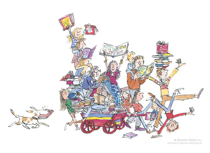 The Book Cart : Quentin Blake Signed Limited Edition Giclee Print - Have It Framed Edinburgh Picture Framer