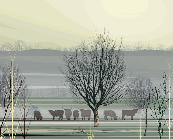 Misty Morning - Original Print Dan Crisp