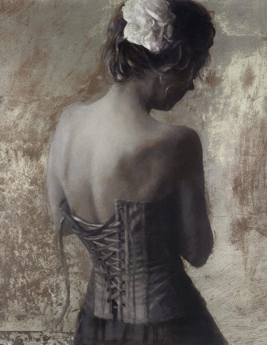 Lace Corset : Original Silk Screen : Fletcher Sibthorp