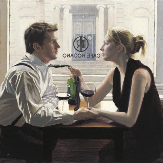 Romantic Lunch - Limited Edition Mounted Giclee Print by Iain Faulkner - Have It Framed Edinburgh Picture Framer