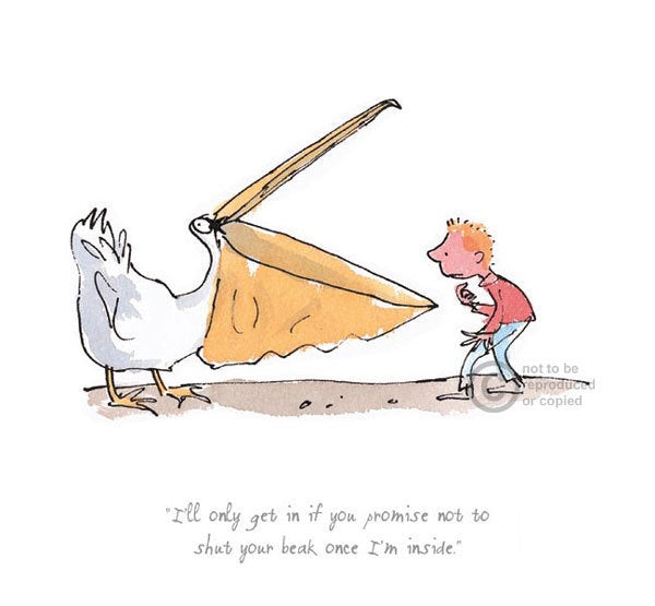 I'll Only Get In If You Promise - The Giraffe, Pelly & Me : Roald Dahl : Quentin Blake - Have It Framed Edinburgh Picture Framer