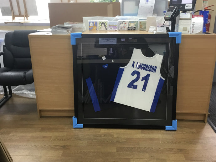 Double hockey shirt frame example