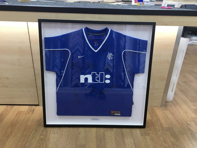 Sport Shirt Framing Edinburgh – Have It Framed