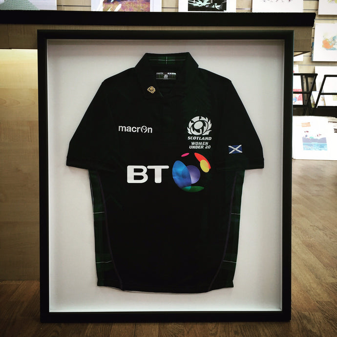 Sport Shirt Natural Presentation -Have It Framed - Have It Framed picture framing Edinburgh