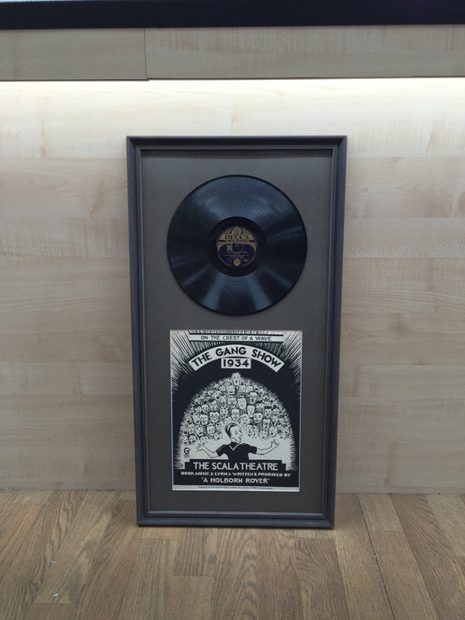 Gang Show LP and cover - example framed in vintage frame