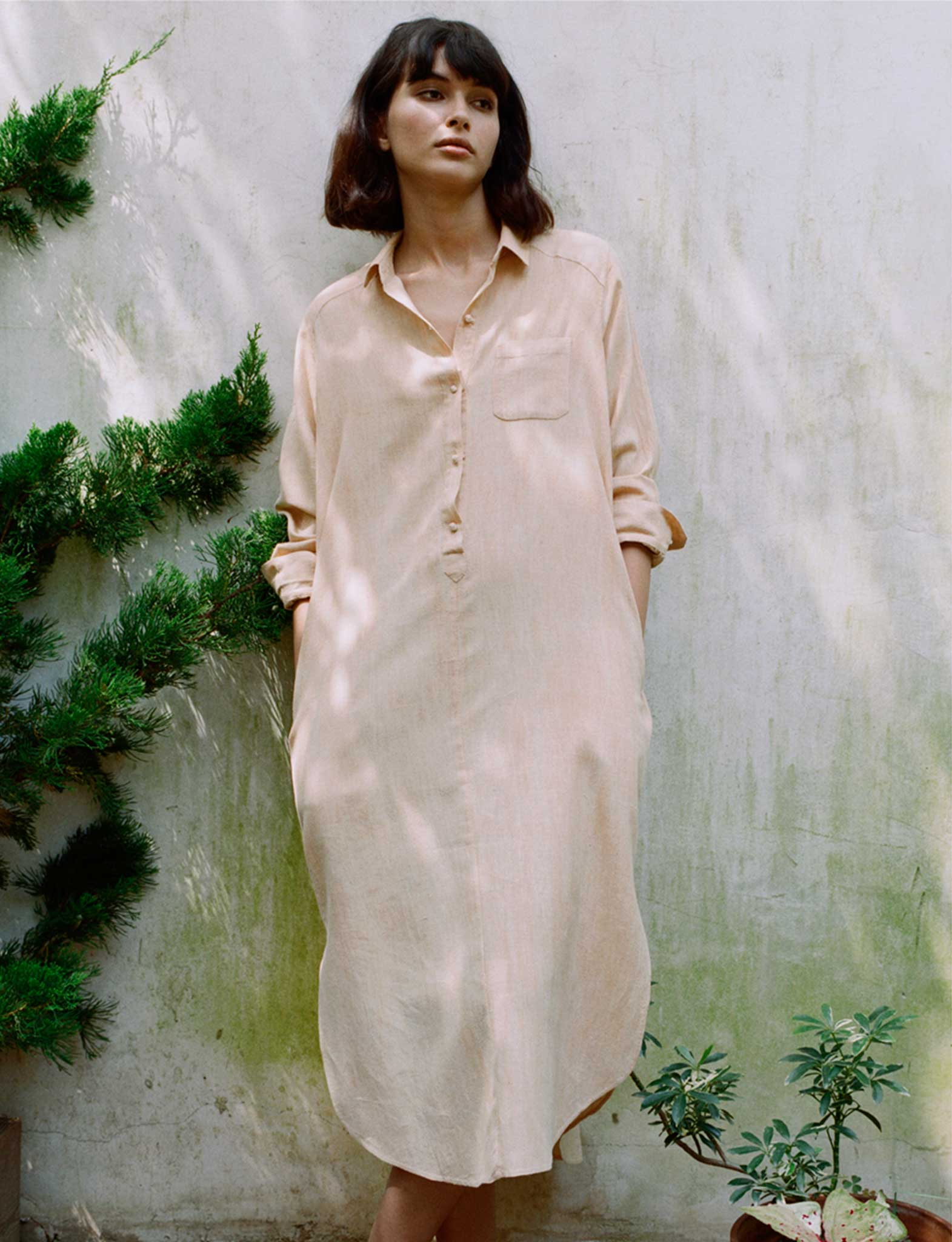 Kurta Shirt Dress clay