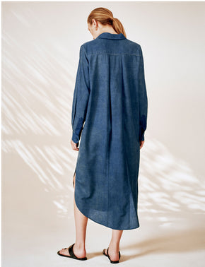 Kurta Shirt Dress dark indigo