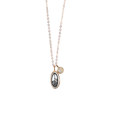 Air Elementos Charm and Gemstone Necklace