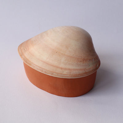 Blush Clamshell Terra Cotta Box
