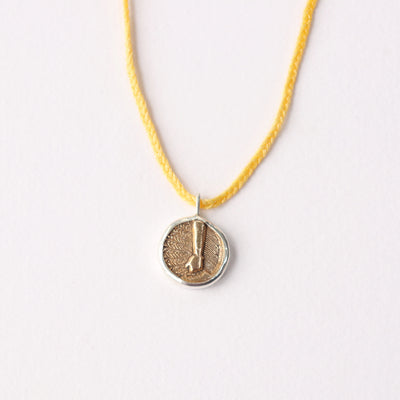 Braided Elementos Medallion Necklace - Earth
