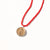 Braided Elementos Medallion Necklace - Fire