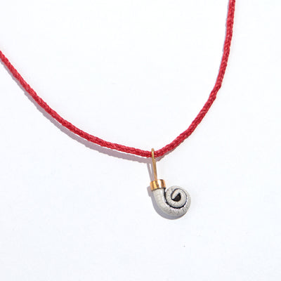 Braided Ram's Horn Necklace