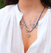 Braided Elementos Medallion Necklace - Water