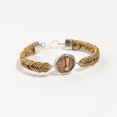 Straw Into Gold Woven Bracelet - Earth