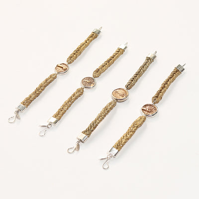 Straw Into Gold Woven Bracelet - Fire