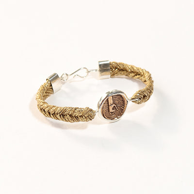 Straw Into Gold Woven Bracelet - Water