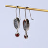 Fire Elementos Gemstone Charm Earrings