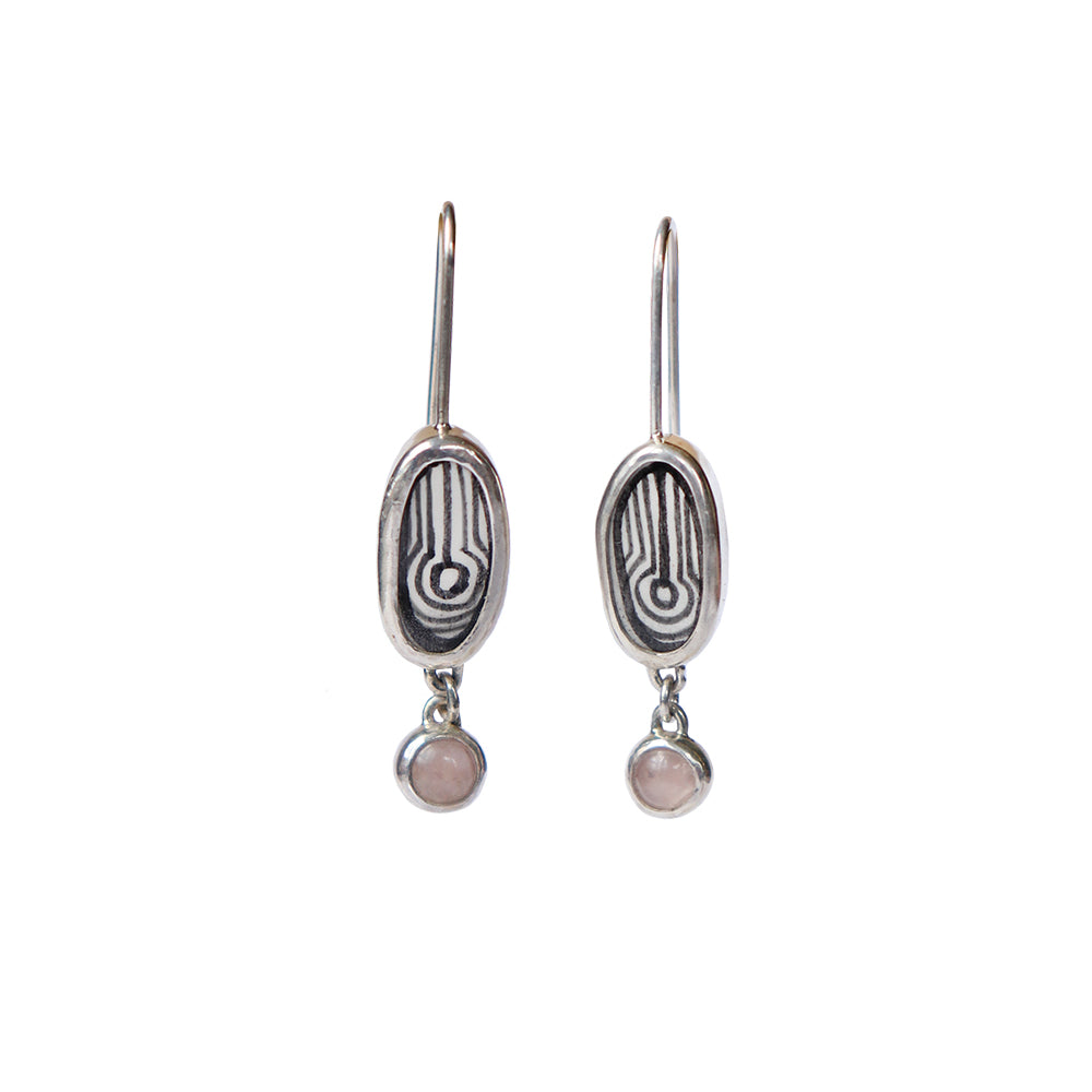 Water Elementos Gemstone Charm Earrings