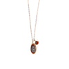 Fire Elementos Charm and Gemstone Necklace
