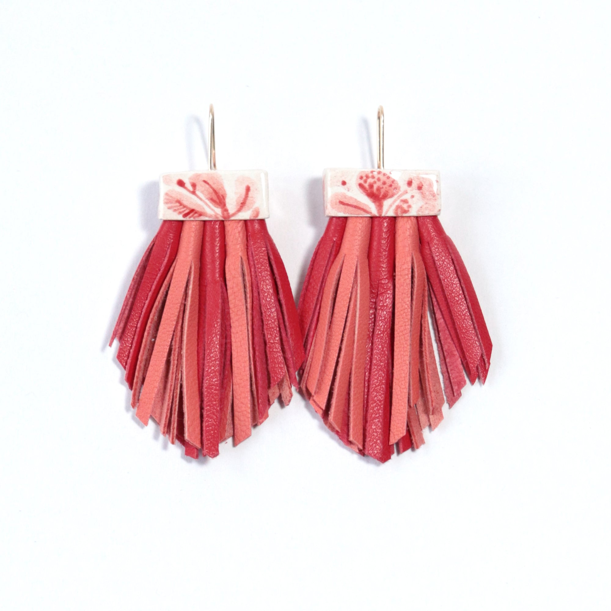 Flora Tassel Cage Earrings
