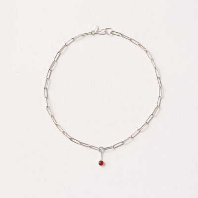 Carnelian Fossa Necklace
