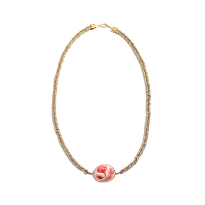 Gold Flora Fishtail Necklace
