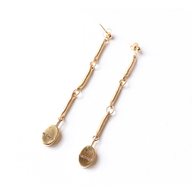 Bronze Link Seedling Earrings