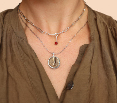 Medallion Elementos Necklace - Fire
