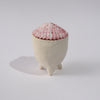 Pink Calico Scallop Shell Ring Box