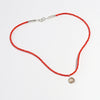 Red Beaded Necklace with Mini Fire Elementos Pendant