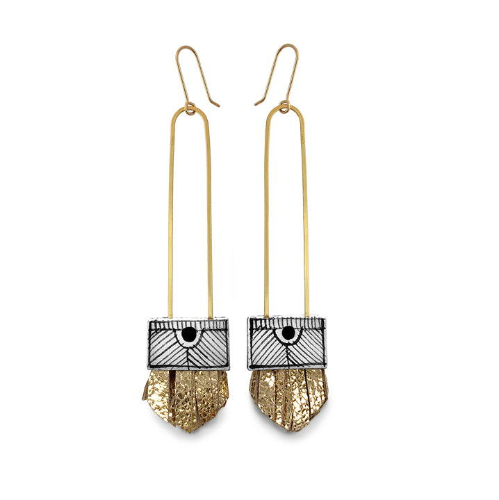Regalo Long Tassel Earring - Golden