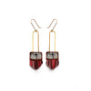 Regalo Shortie  Earrings - Malbec