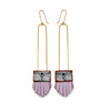 Regalo Long Earrings - Lilac