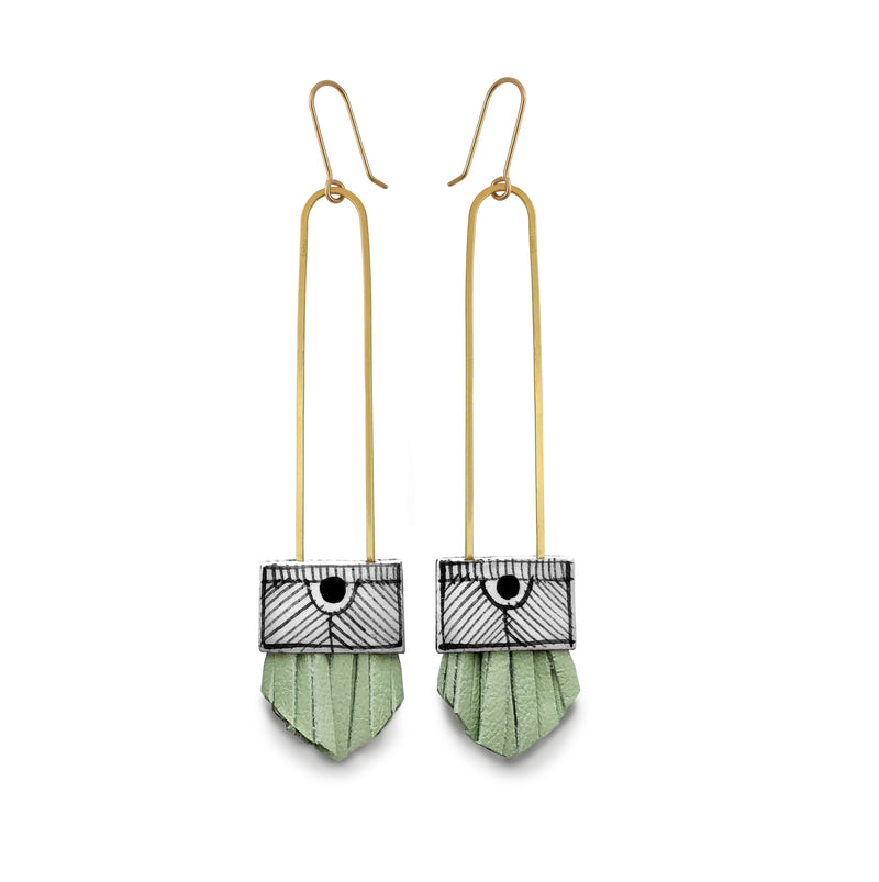 Regalo Long Earrings - Seafoam