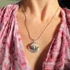 Sterling Oraibi Pendant on Serpent Chain