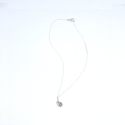 Sterling Silver Ram's Horn Necklace