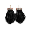 Tassel Cage Earrings – Jet Black