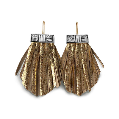 Tassel Cage Earrings- Golden