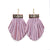 Tassel Cage Earrings - Lilac