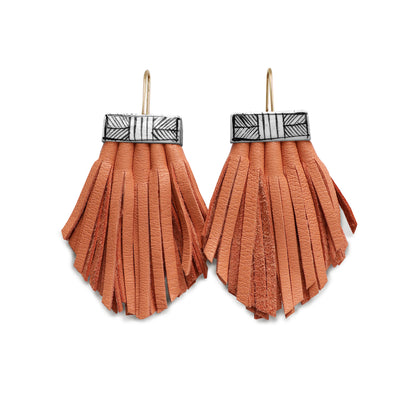 Tassel Cage Earrings- Melon