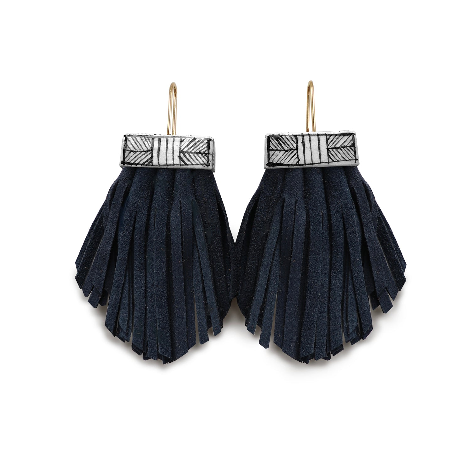 Tassel Cage Earrings- Nightswimming