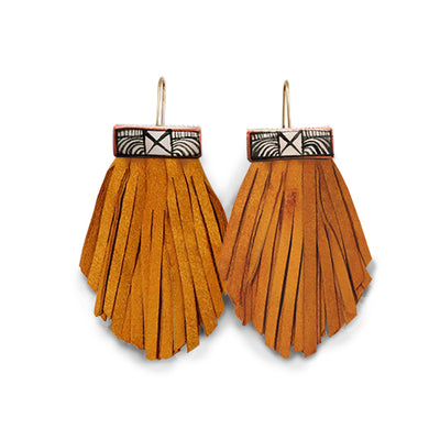 Tassel Cage Earrings – Turmeric