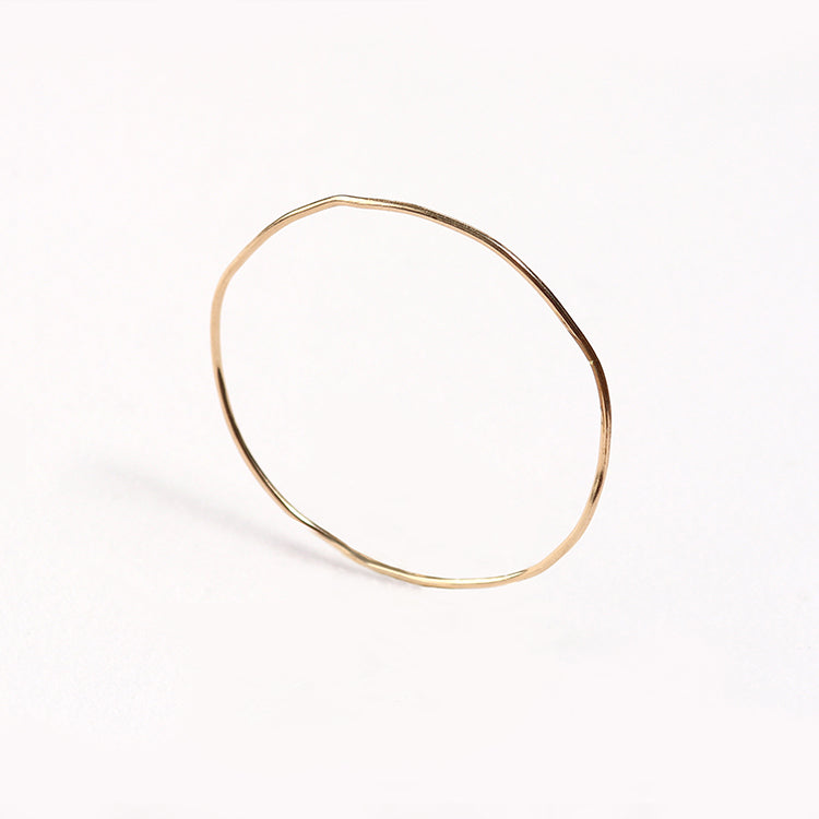Wabi-Sabi Bangle - Vermeil