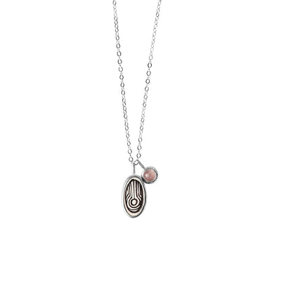 Water Elementos Charm and Gemstone Necklace