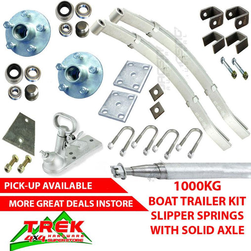 1000KG GALV KIT, SLIP SPRINGS, AXLE - Trek Hardware